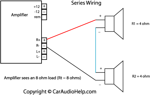 Car Speaker Wiring - Wiring Diagram Progresif on series parallel speaker wiring calculator, batteries in parallel diagram, series circuit diagram, series and parallel electrical wiring, series vs. parallel subwoofer diagram, parallel circuit diagram,