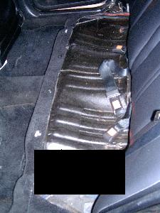 nissan maxima rear seat removal